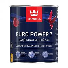 Краска Tikkurila EURO Power 7 моющаяcя 0,9 л База С Тиккурила