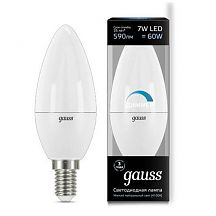 Лампа LED Свеча Е14 7W 2700K 60W Gauss STEP DIMMABLE 103101107-S