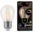 Лампа Gauss LED Шар Filament  E27 5W 2700K 105802105